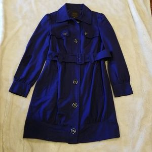 Limited Cobalt Blue Trench Coat with Belt